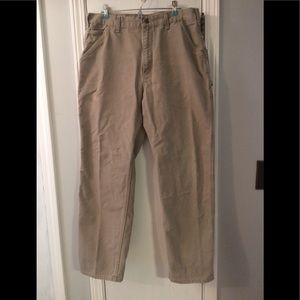 Carhartt Khaki Work Pants 36x32
